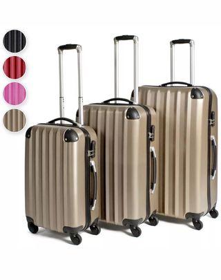 Set 3 maletas ABS juego de maletas de viaje trolle