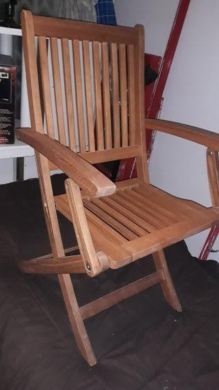sillon madera de teca