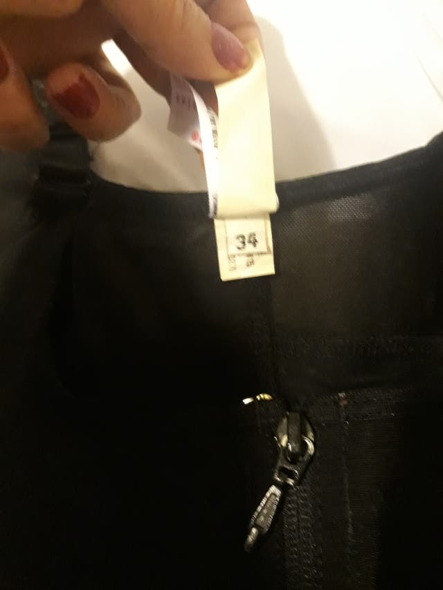 faja moldea cintura lebanta cola talla 34 .