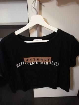 Camiseta corta mujer Mango