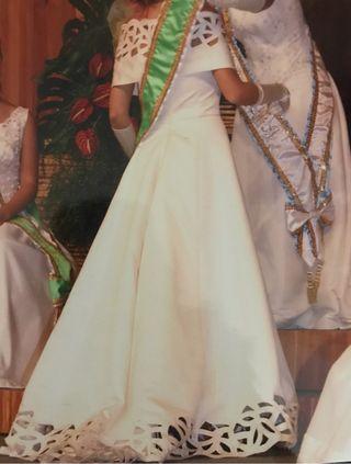Vestido Alta Costura boda/ dama fiestas pueblo
