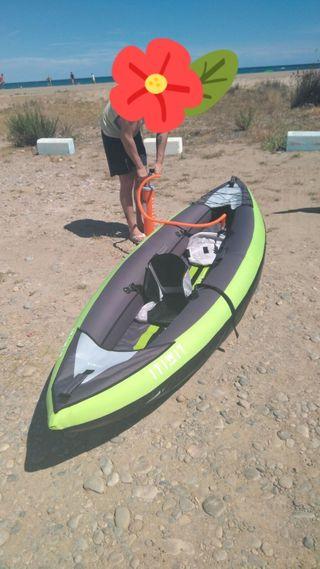 kayak de dos, palas , porta objetos y inchador