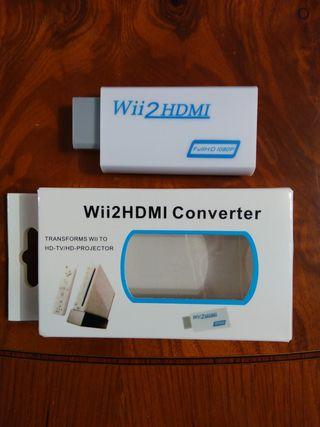 adaptador conversor HDMI consola Nintendo Wii nuev