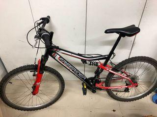 """Bicicleta MTB 24"""" - 18v - doble suspension"""