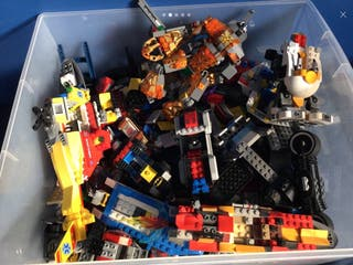 Bundle of Genuine Lego in Large Lego Container ,