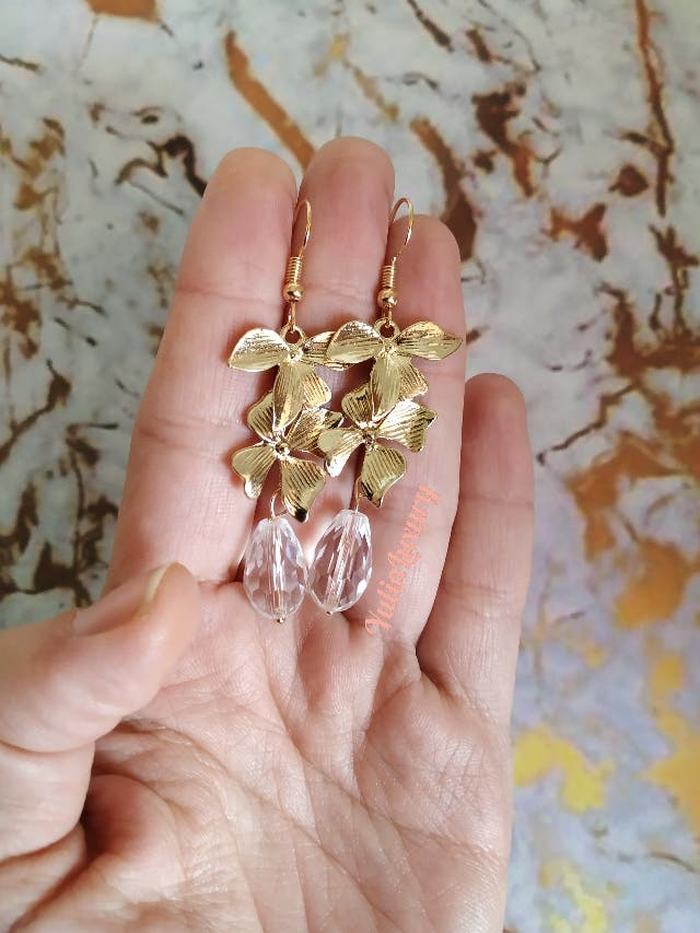 Pendientes tono oro joya joyería bisutería novia
