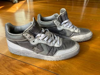 Converse bajas tipo Weapon grises, talla 42.