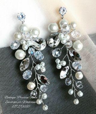 Preciosos Pendientes de novia invitada a boda joya