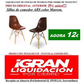 LIQUIDACIÓN!SILLAS DE COMEDOR MARRÓN!!!