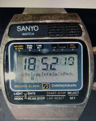 Sanyo Vintage 1979 LCD Quartz