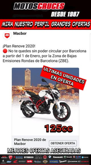 2020 MACBOR 125 MEJORES OFERTAS ASEGURADAS