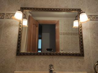 Espejo con dos apliques de luz 90x70