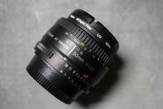 Objetivo Nikon. AF NIKKOR 50mm 1:1.8 D