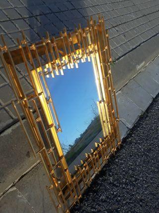 Espejo retroiluminado escultura de bronce latón 50