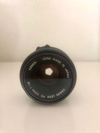 Objetivo Canon FD 50mm f. 1.8