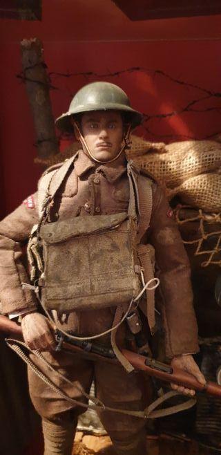 Figura soldado Inglés I guerra mundial escala 1/6