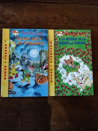 Pack de 2 libros de Geronimo Stilton