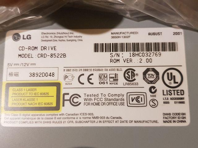 LG lector CD Rom para PC sobremesa