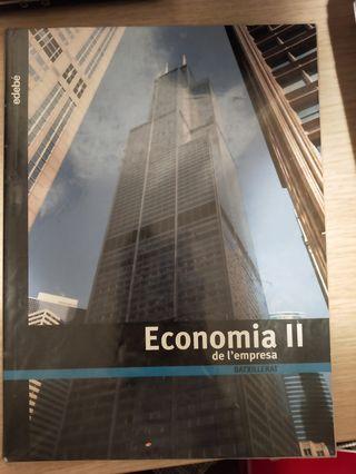 Libro Economia de la empresa II en catalán
