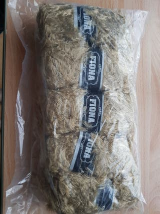 light brown mohair double Knit yarn