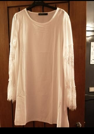 brand new lace tunic dress/top