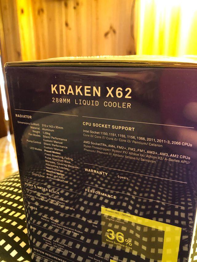NZXT Kraken X62 PRECINTADO