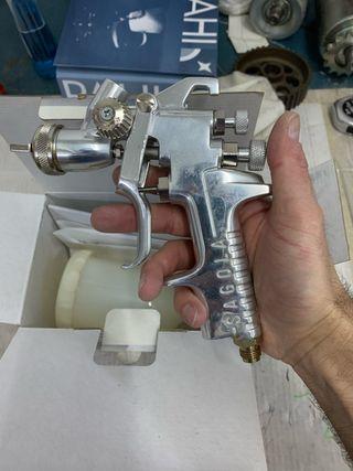 Pistola aerográfica de gravedad Sagola 435G