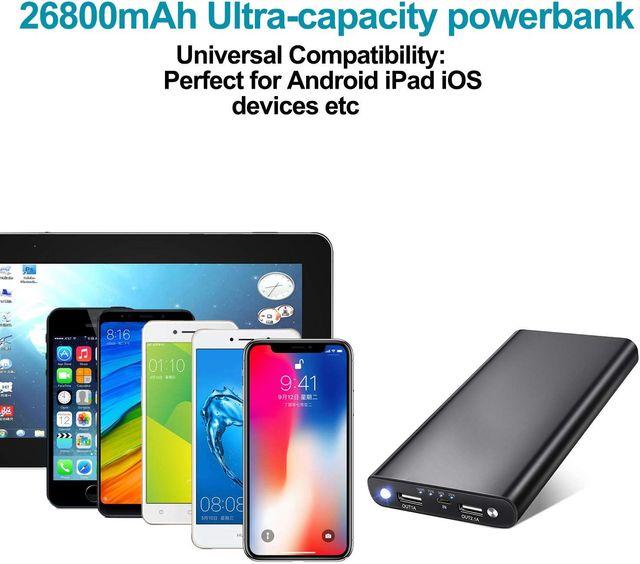 Batería Externa 26800mAh NUEVA SIN ESTRENAR
