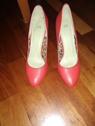 zapato mujer tacon rojo