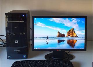 Ordenador PC Intel Core2 Duo + Monitor + Tecl/rato