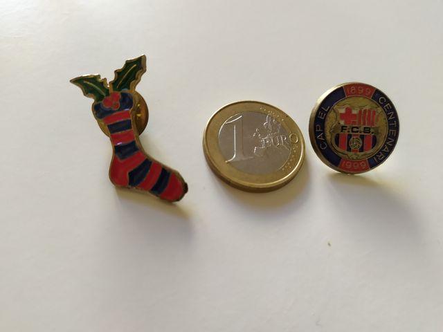 Pin FCB centenario y calcetín navidad