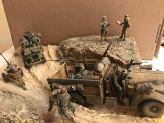 Diorama maqueta militar 1/35 SAS