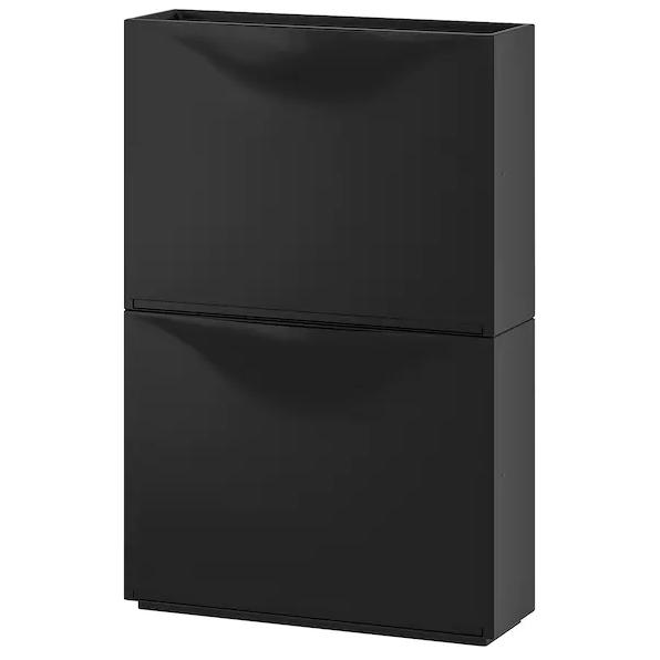 Zapatero/almacenaje negro x 4