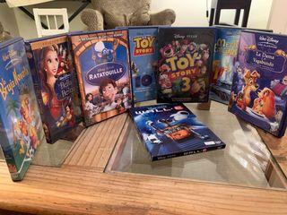 8 películas de Walt Disney y pixar formato DVD.