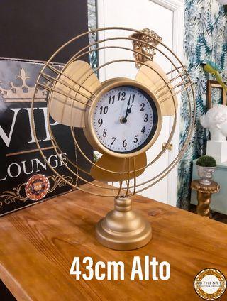 Reloj Ventilador Estilo Vintage Metalico 47cm Alto
