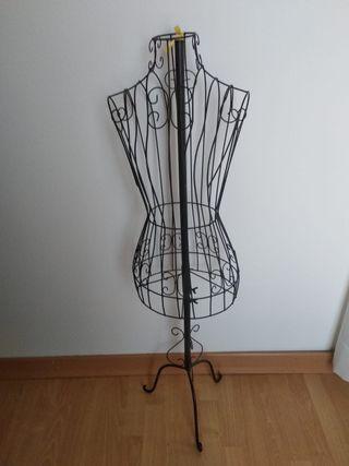 Maniquí busto femenio de metal