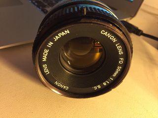 Objetivo CANON Fd 50mm 1.8