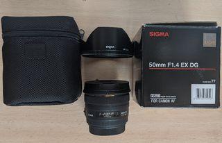 Objetivo para Canon Sigma 50mm f/1.4 EX DG HSM