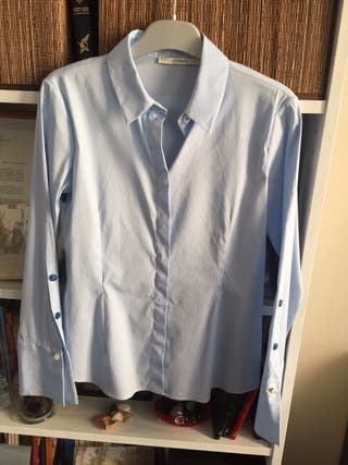 Camisa azul claro Uterqüe