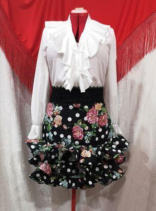 Falda flamenca corta talla 48