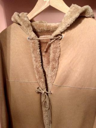 Abrigo 100% piel vuelta marca