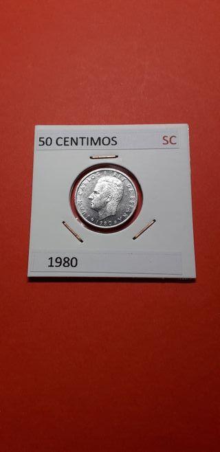 50 CENTIMOS AÑO 1980