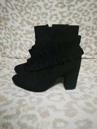 botas botines n39 negros calzado zapatos