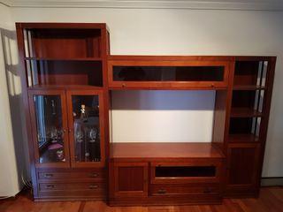 Mueble Salón Libreria-Vitrina-Tv