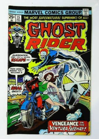 GHOST RIDER 15. 1974 SERIES. MARVEL COMICS.