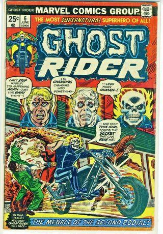 GHOST RIDER 6. 1974 SERIES. MARVEL COMICS.