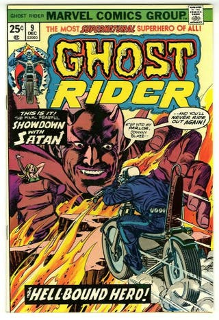 GHOST RIDER 9. 1974 SERIES. MARVEL COMICS.