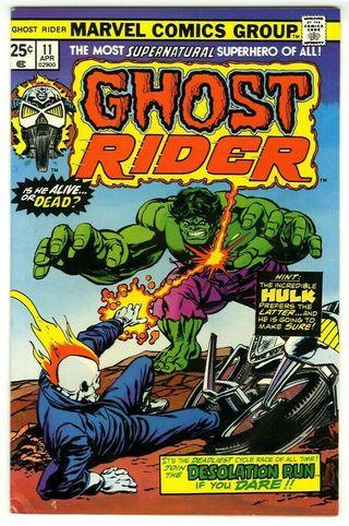 GHOST RIDER 11. 1974 SERIES. MARVEL COMICS.