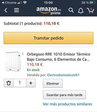 Emisor térmico bajo consumo orbezgogo GARANTIS
