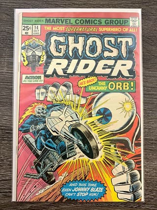 GHOST RIDER 14. 1974 SERIES. MARVEL COMICS.